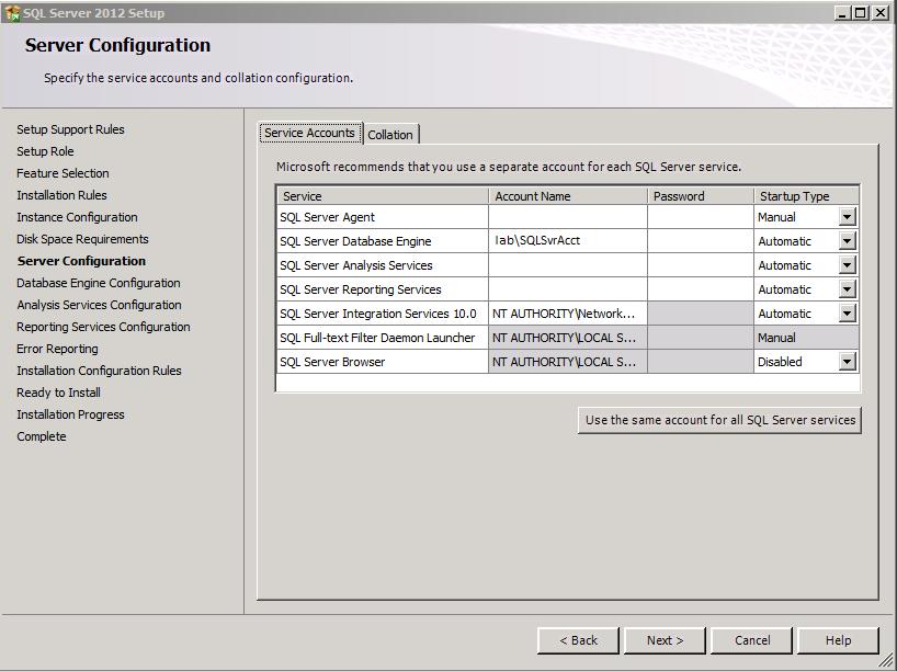 Installing SQL Server on a Domain Controller – SAMOSQL